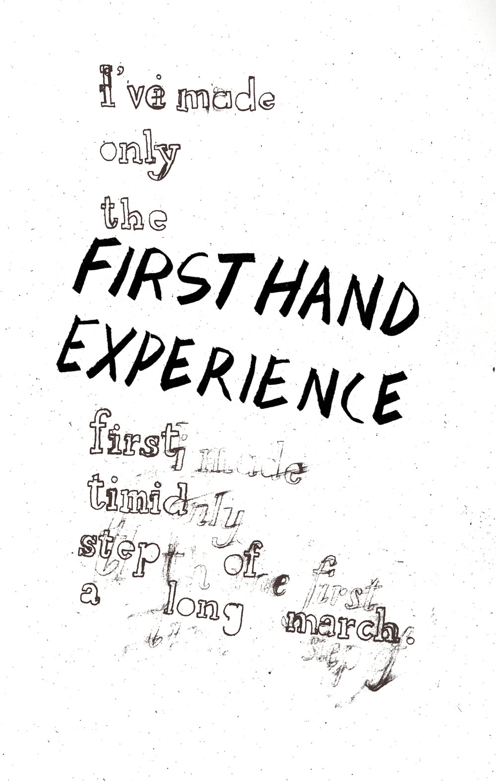 first hand experience